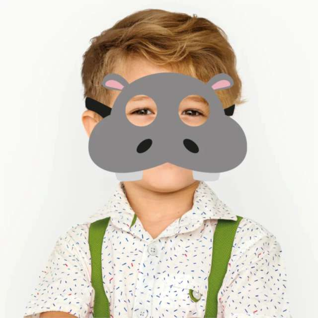 Maska Hipopotam filcowa PartyPal