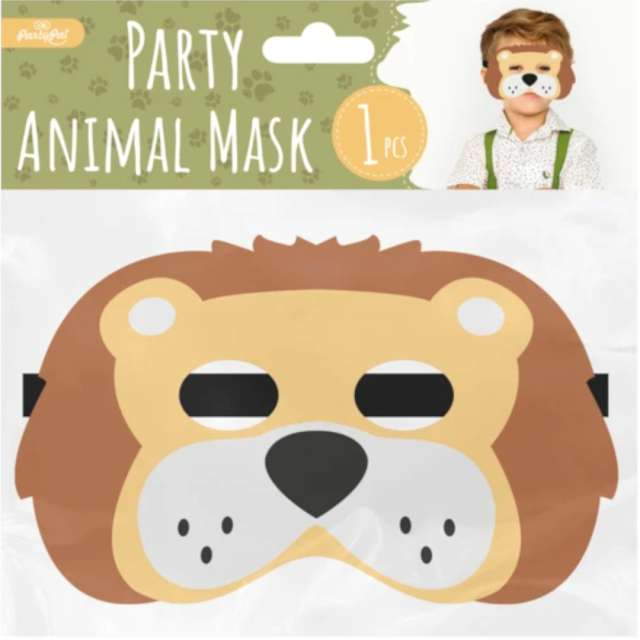 Maska Lew filcowa PartyPal