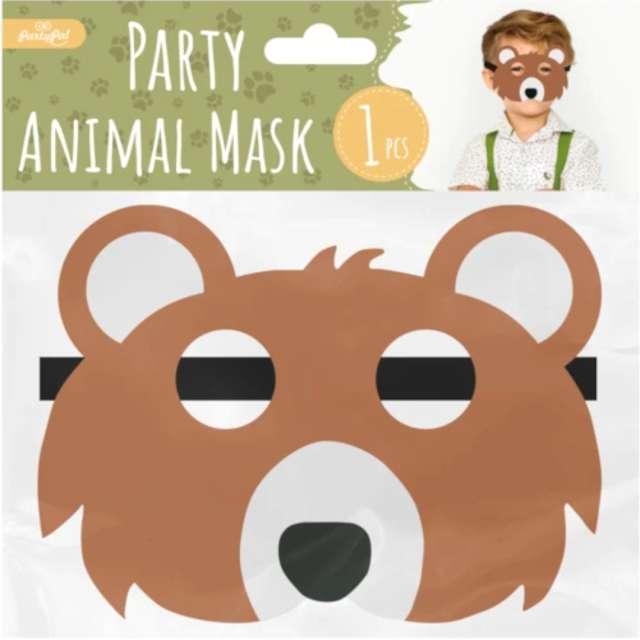 Maska Miś filcowa PartyPal