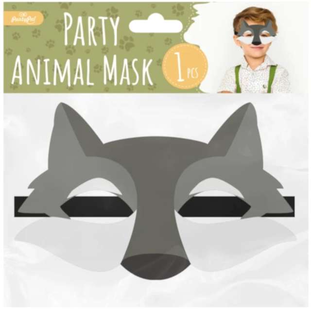 Maska Wilk filcowa PartyPal