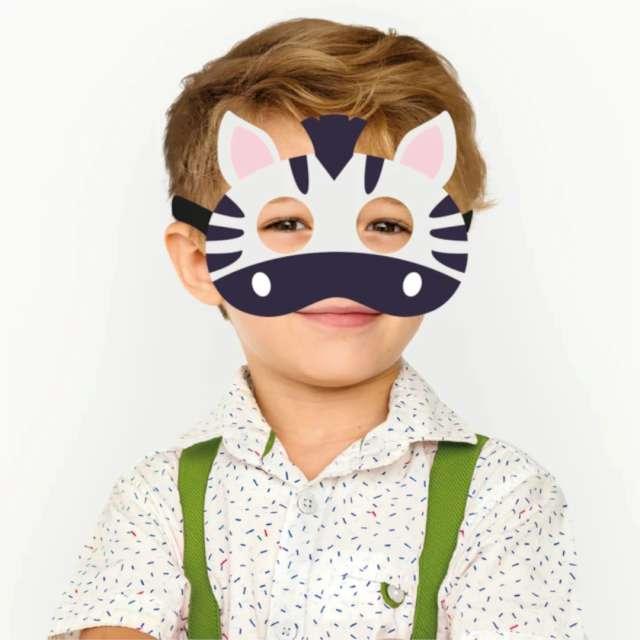 Maska Zebra filcowa PartyPal
