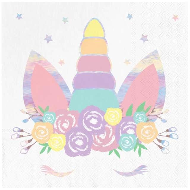 """Serwetki """"Unicorn - Jednorożec"""", PartyPal, 33 cm, 10 szt"""