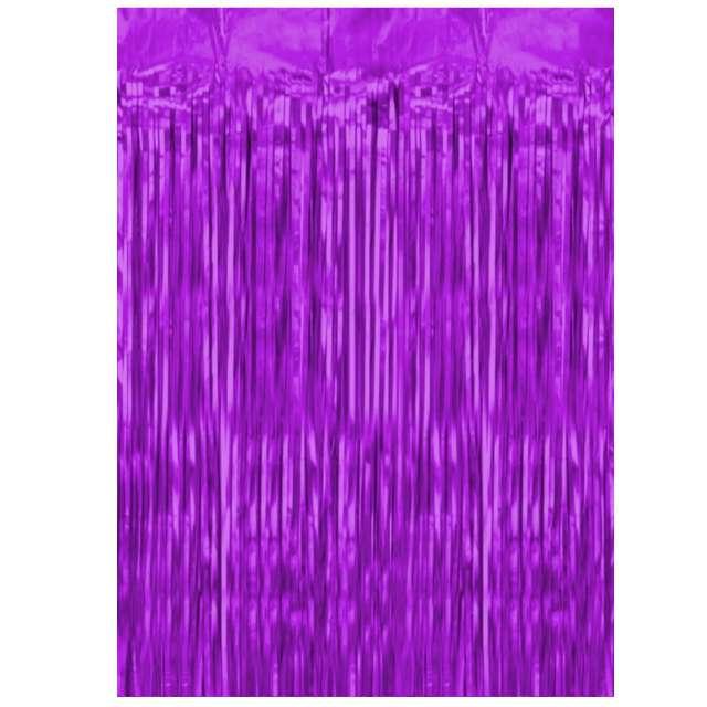 """Kurtyna na drzwi """"Classic"""", fioletowa, PartyPal, 100 x 250 cm"""