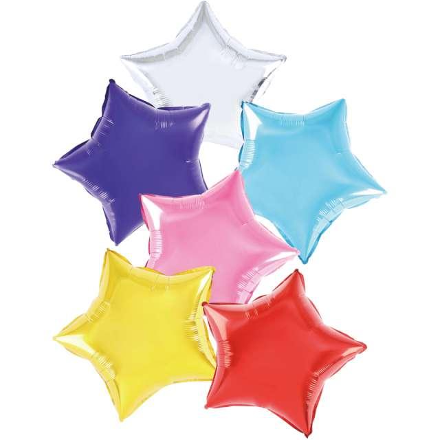 """Balon foliowy """"6 Gwiazd"""", mix, Partypal, STR zestaw"""
