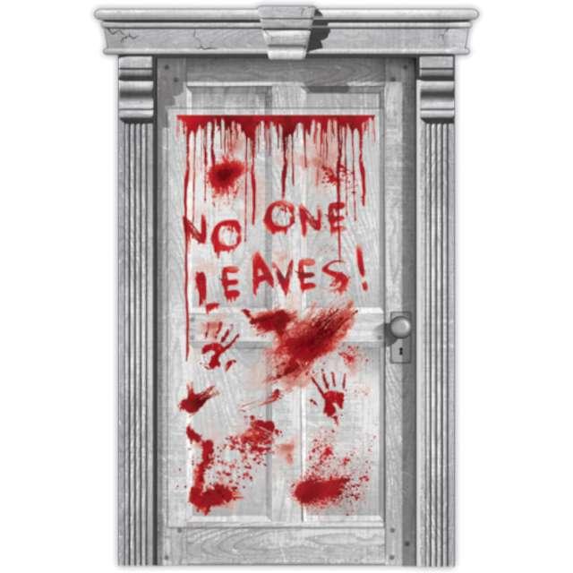 """Dekoracja na drzwi """"No One Leaves"""", Amscan, 165X85 cm"""