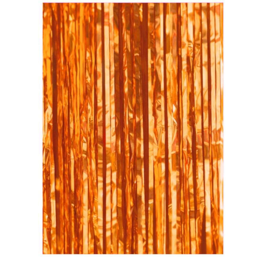"""Kurtyna na drzwi """"Classic"""", pomarańczowa, PartyPal, 100 x 200 cm"""