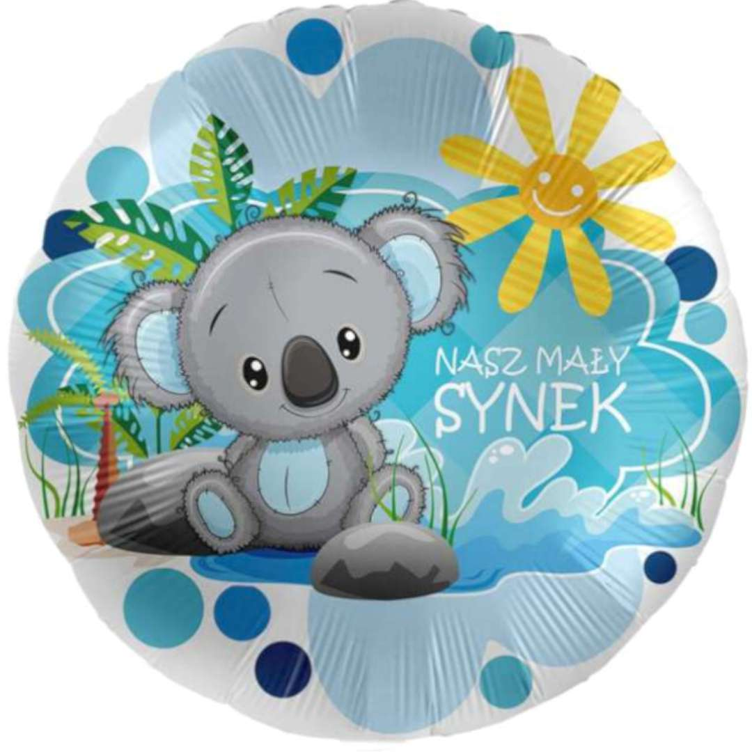 """Balon foliowy """"Nasz Mały Synek"""", niebieski, Amscan, 17"""", RND"""