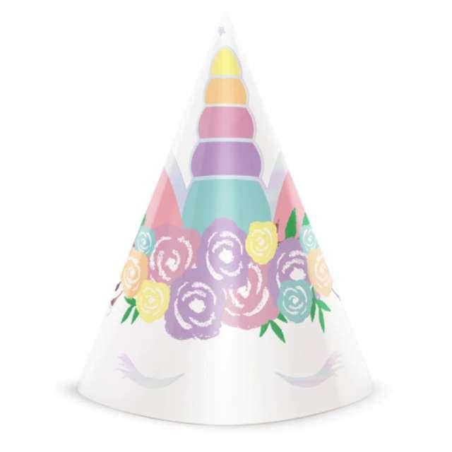"""Czapeczki papierowe """"Unicorn - Jednorożec"""", PartyPal, 6 szt"""
