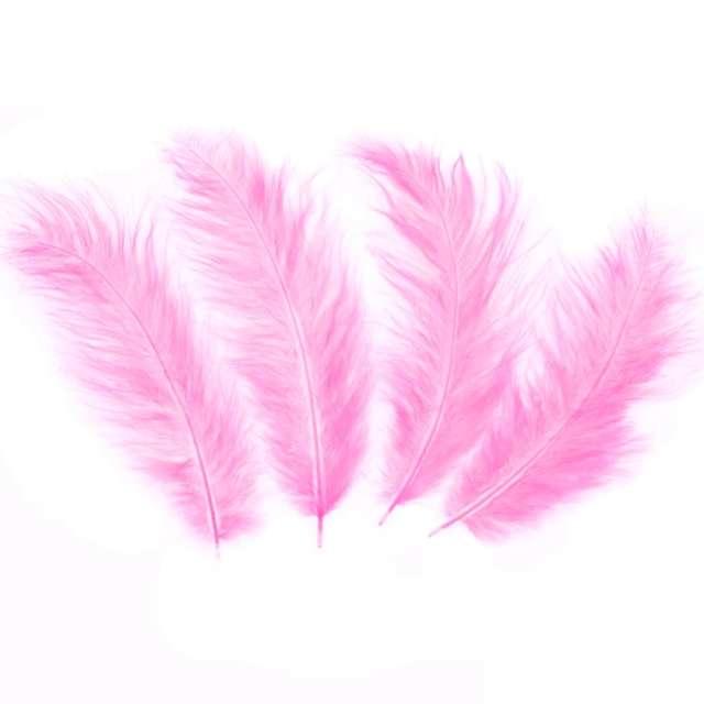 Piórka dekoracyjne Długie różowe PartyPal 10-15 cm 50 szt