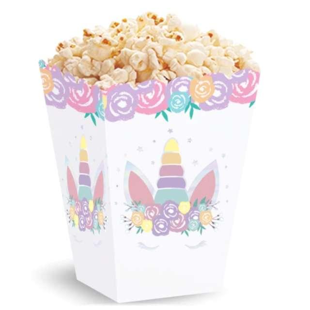 Pudełka na popcorn Jednorożec - Unicorn PartyPal 3 szt