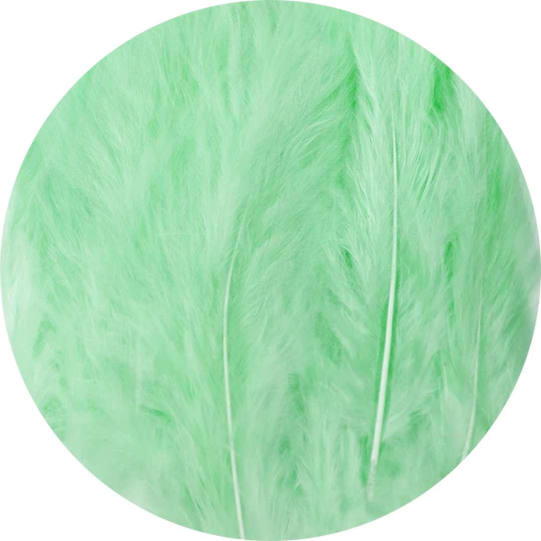 """Piórka dekoracyjne """"Długie"""", seledynowe, PartyPal, 10-15 cm, 50 szt"""
