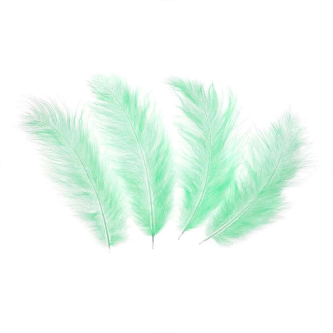 Piórka dekoracyjne Długie seledynowe PartyPal 10-15 cm 50 szt
