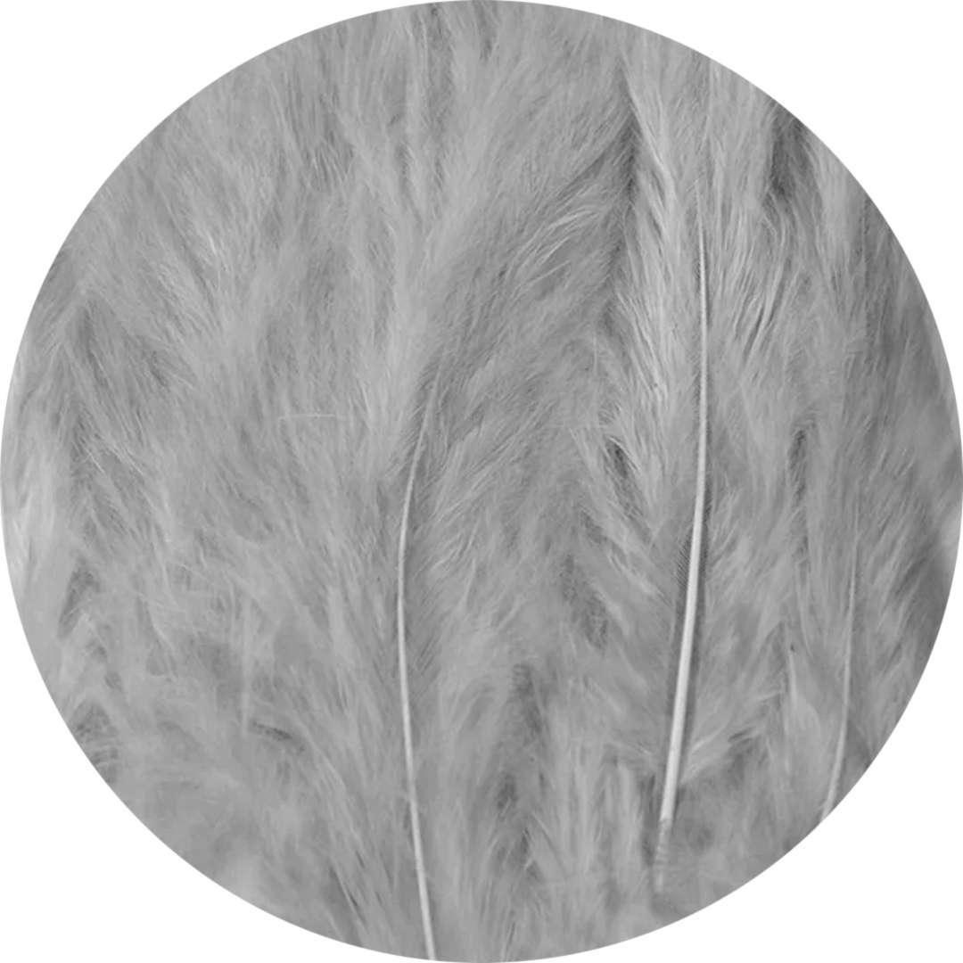 """Piórka dekoracyjne """"Długie"""", szare, PartyPal, 10-12 cm, 50 szt"""