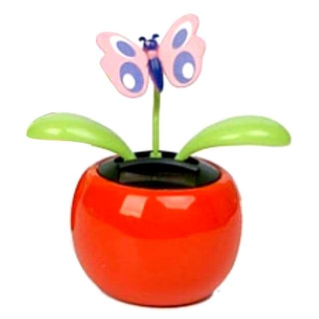 Kwiatek solarny Tańczący Motylek mix 10cm