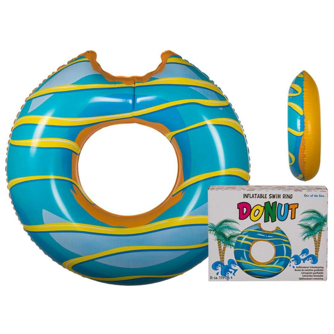 Koło do pływania Nadgryziony Donut XL morski OOTB 119cm