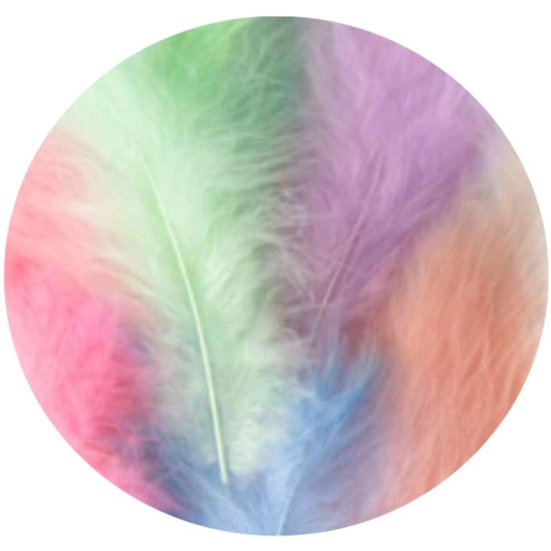 """Piórka dekoracyjne """"Długie"""", kolorowe, PartyPal, 10-15 cm, 50 szt"""