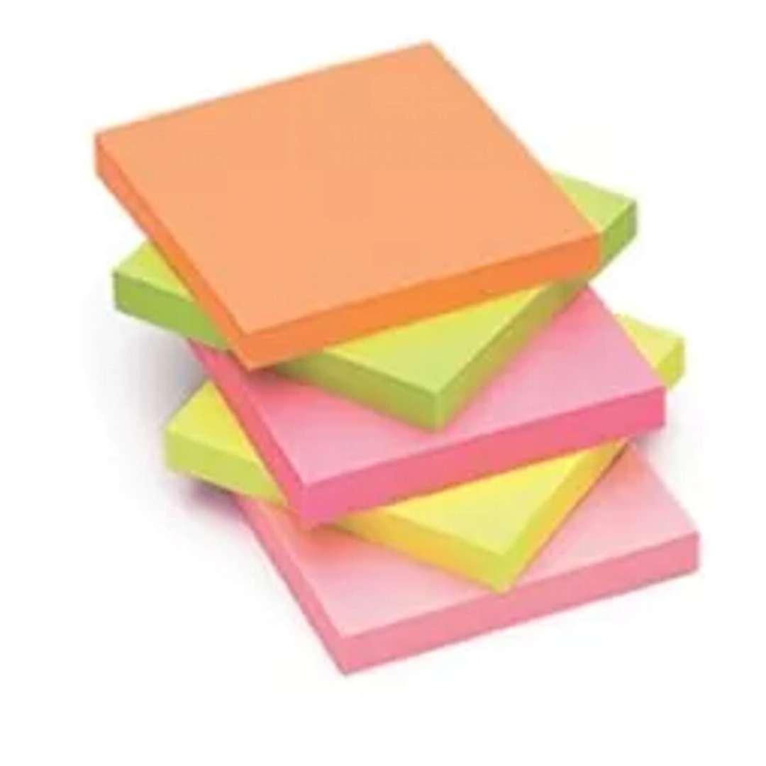 """Notes """"Kostka klejona"""", MIX neon, 75x75 mm , Tix, 450 szt"""