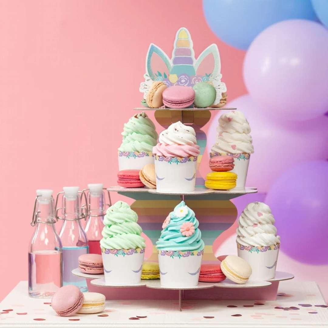 Papilotki na muffinki Jednorożec - Unicorn PartyPal 6 szt