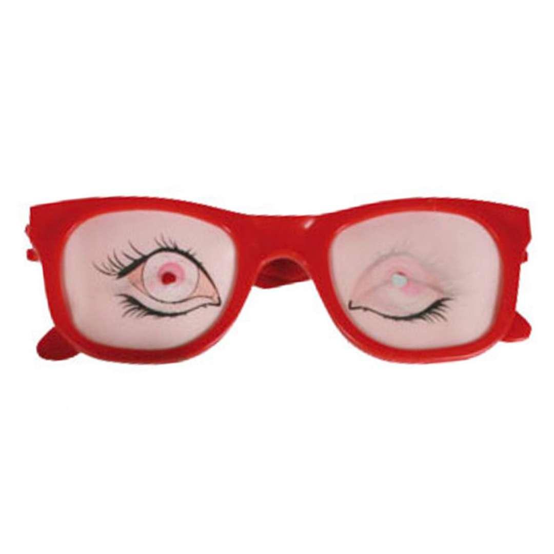 """Okulary party """"Oczy z efektem 3D"""", czerwone, Kemiś"""