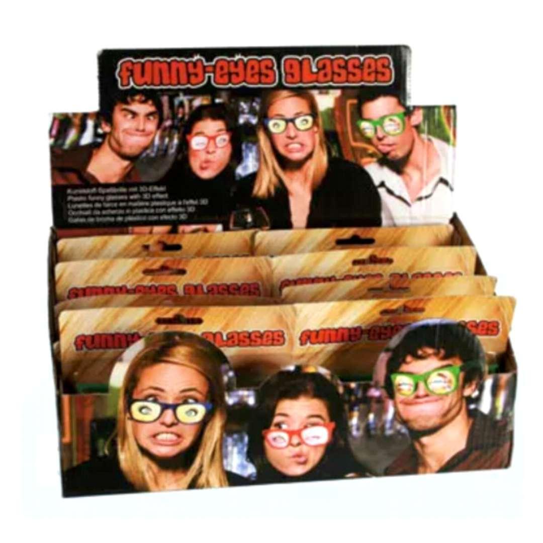 Okulary party Oczy z efektem 3D czerwone Kemiś