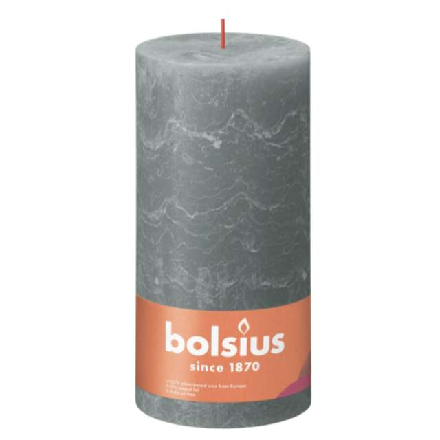 Świeca pieńkowa Rustic eukaliptusowa zieleń Bolsius 200/100 mm