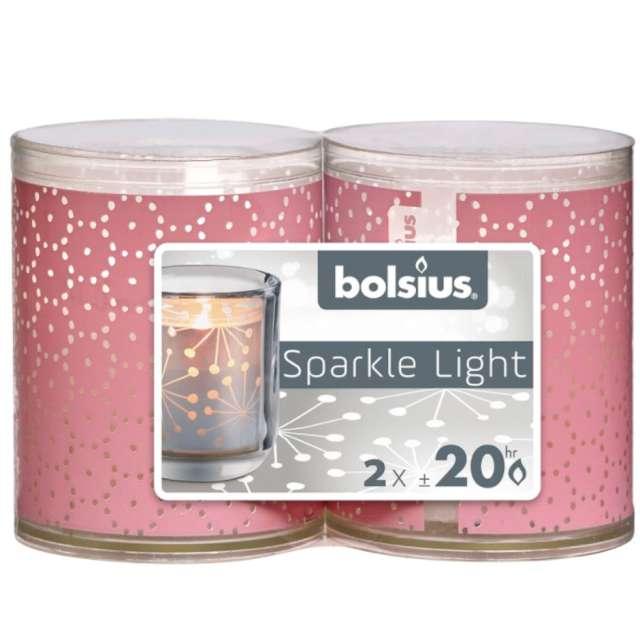 """Świeca w ozdobnym opakowaniu """"Sparkle Light - Koronka"""", Bolsius, 2 szt"""