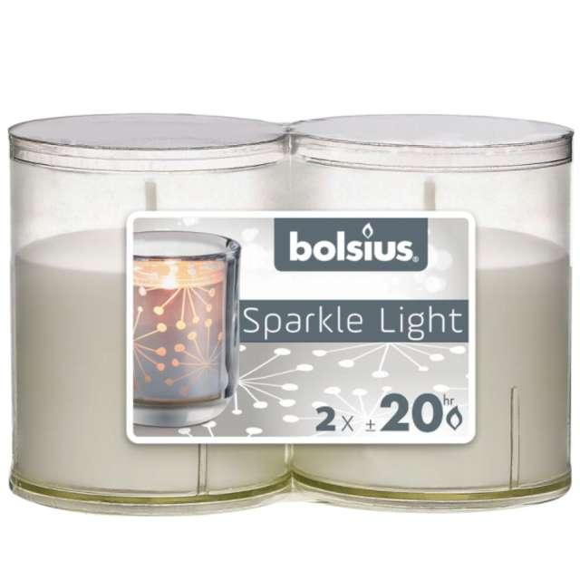 Świeca w przeźroczystym opakowaniu Sparkle Light Bolsius