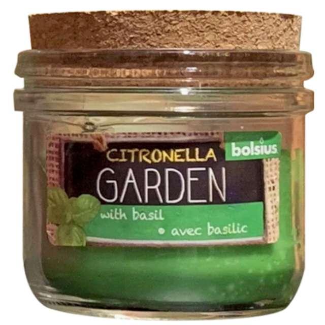 Świeca zapachowa w szkle CITRONELLA - Bazylia Bolsius 8 cm