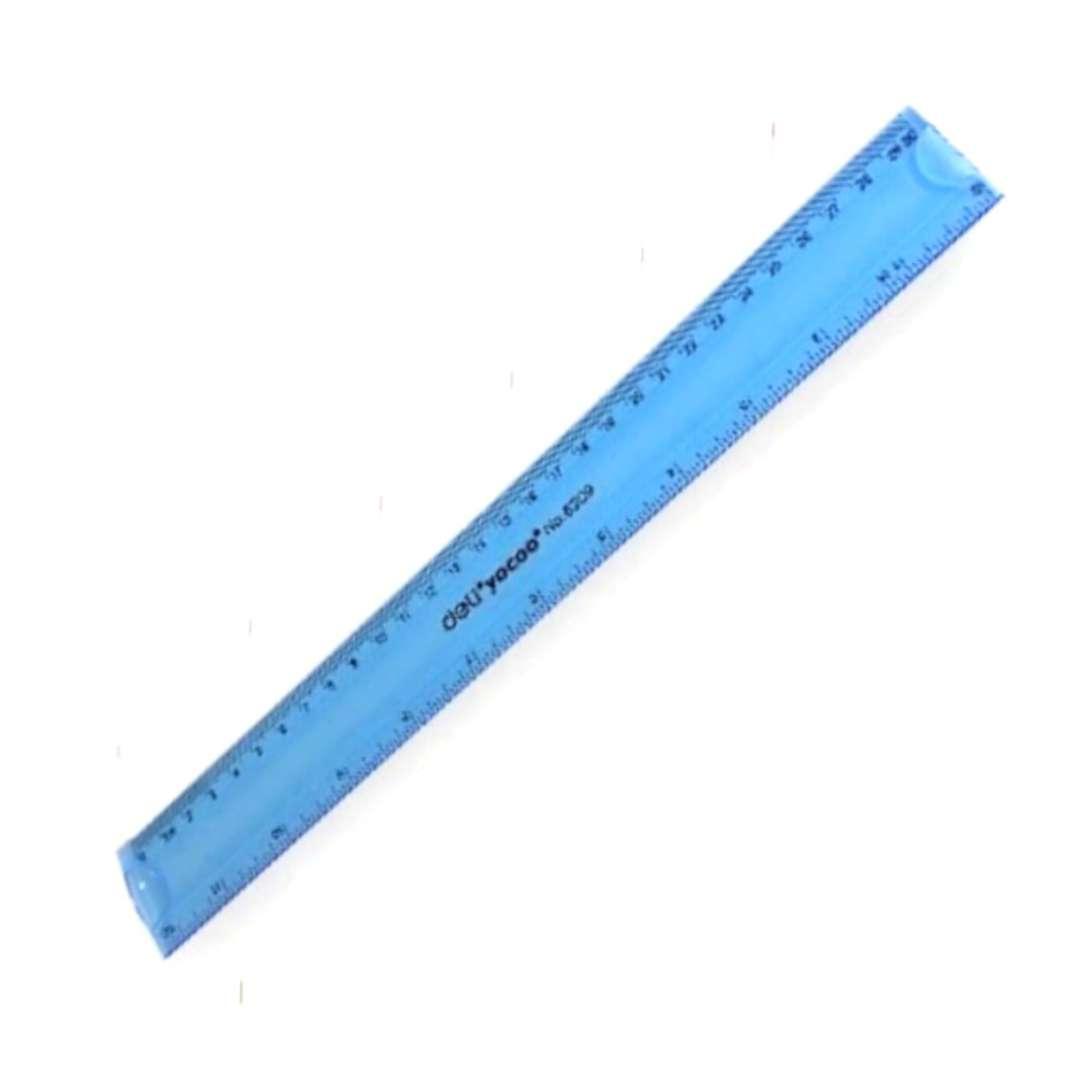 """Linijka """"Elastyczna """", niebieski neon, DELI, 30 cm"""