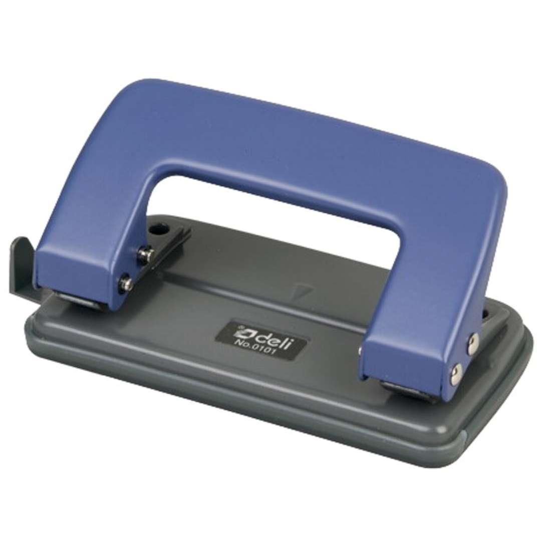 """Dziurkacz do papieru """"Classic Mini"""", niebieski, DELI No 0101"""