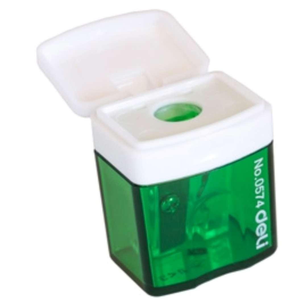 Temperówka z pojemnikiem Mini zielona DELI