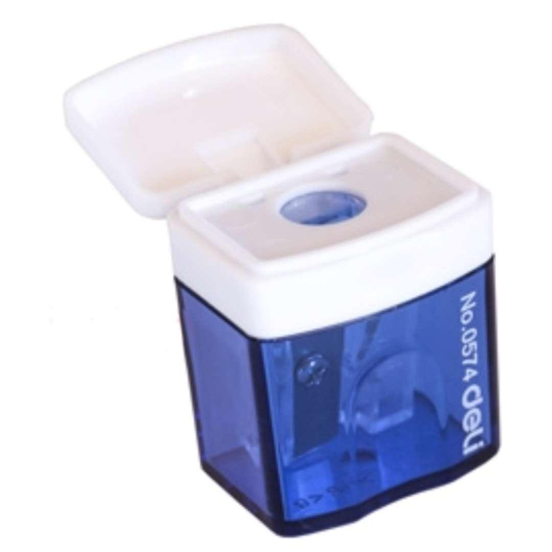 """Temperówka z pojemnikiem """"Mini"""", niebieska, DELI"""