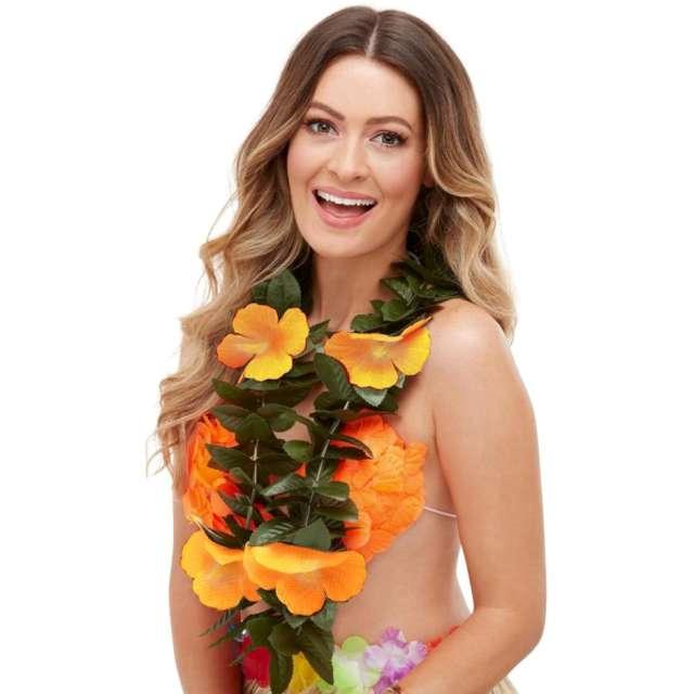 Naszyjnik Hawajski Loka zielono - pomarańczowy Smiffys