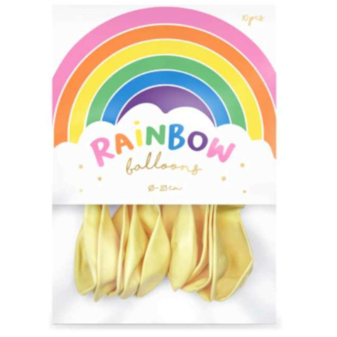 Balony Rainbow - Metalizowane kremowe PartyDeco 9 10 szt