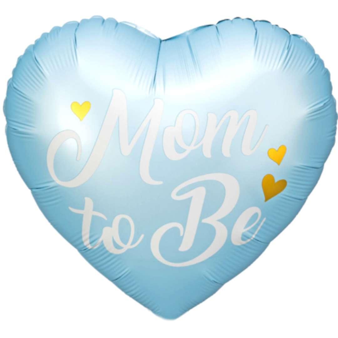Balon foliowy Mom to Be niebieski PartyDeco 14 HRT
