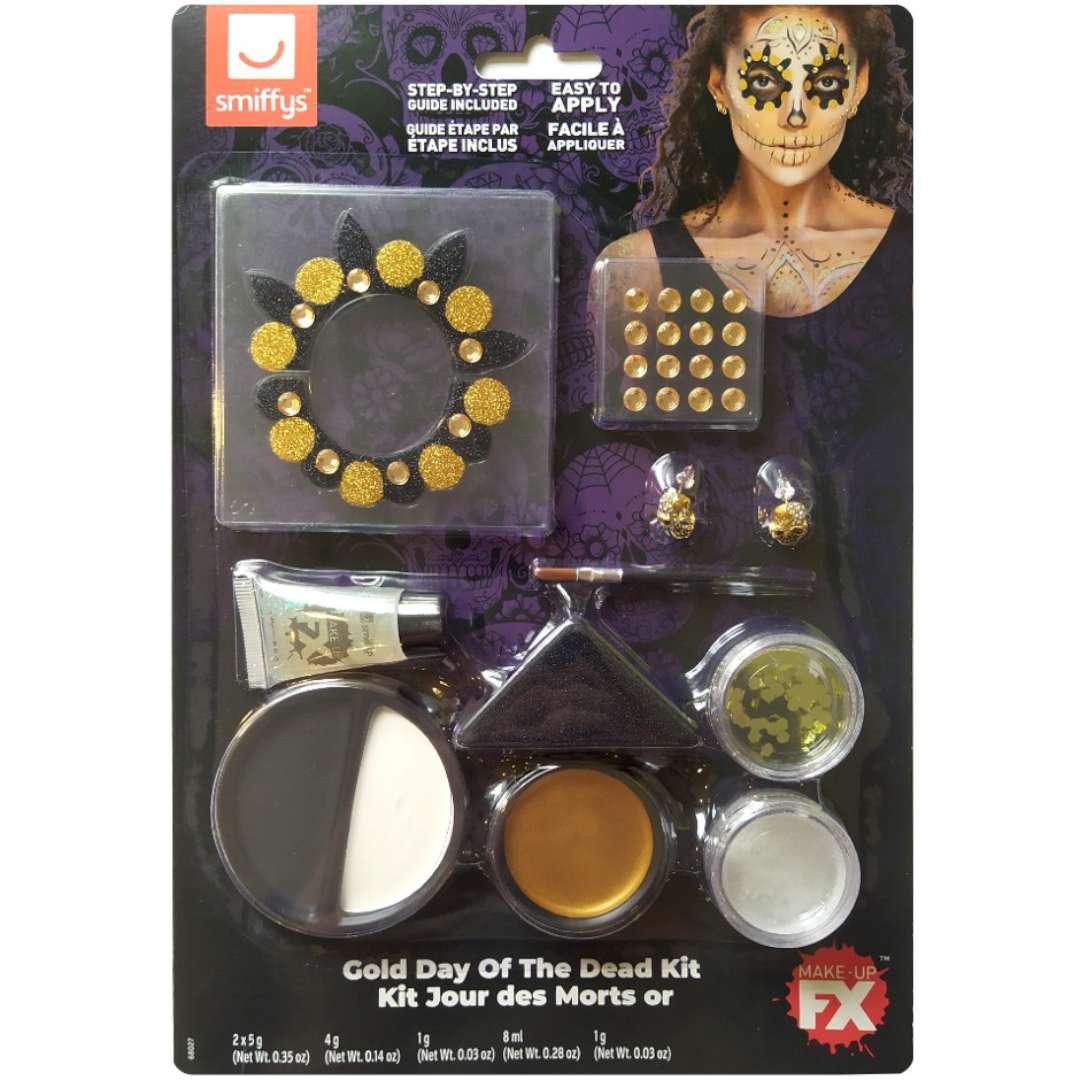 Make-up party Halloween - Złota Śmierć SMIFFYS zestaw