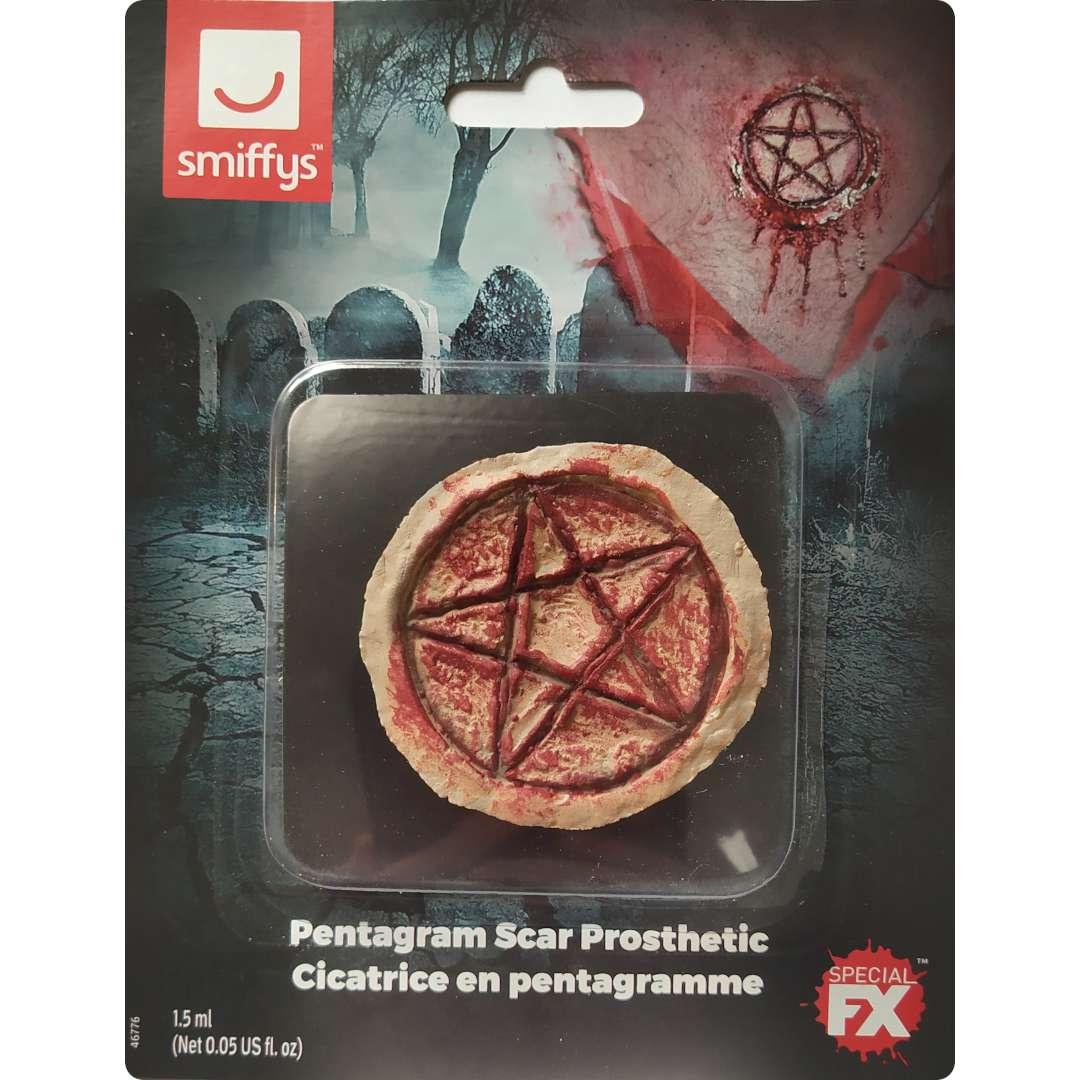 Make-up party Charakteryzacja blizn - Pentagram Smiffys