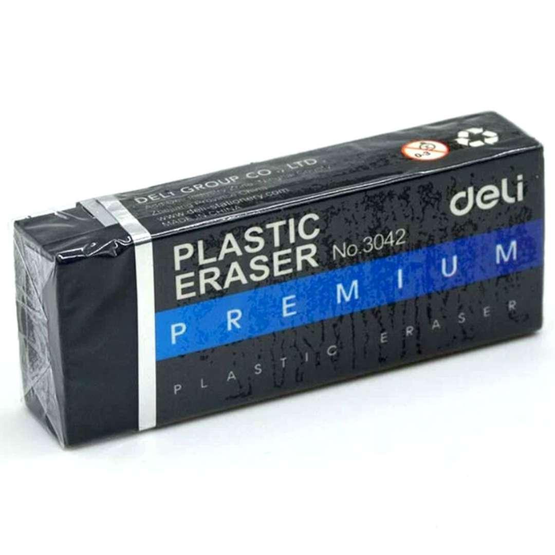 """Gumka do zmazywania """"Premium XL"""", czarna, DELI No 3042"""