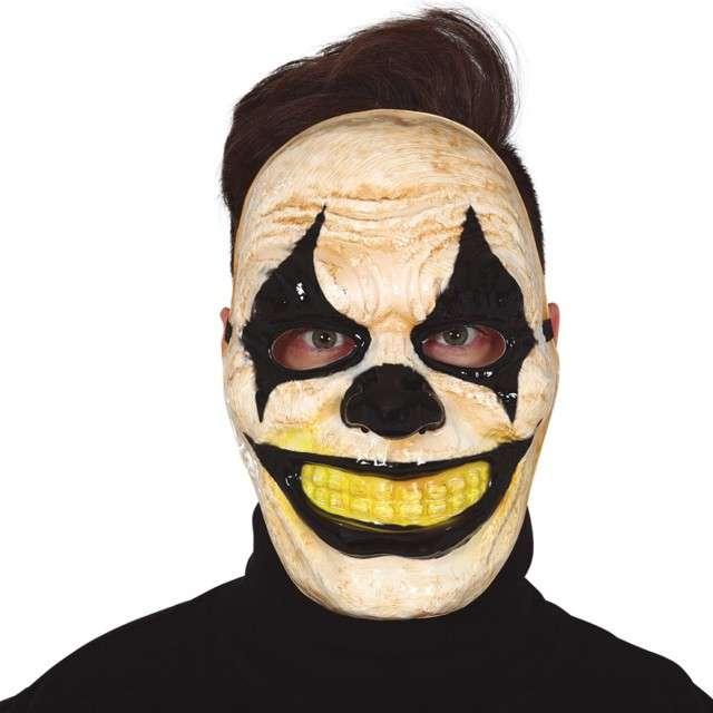 """Maska """"Przerażający Klaun - Arlekin"""", plastikowa, Guirca"""