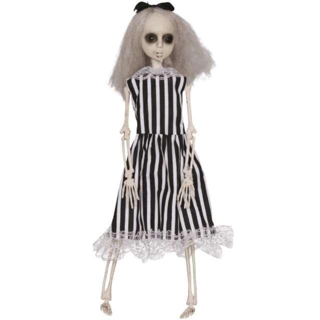 """Dekoracja wisząca """"Szkielet dziewczyny - Sok z żuka"""", biało-czarna, Guirca, 40 cm"""