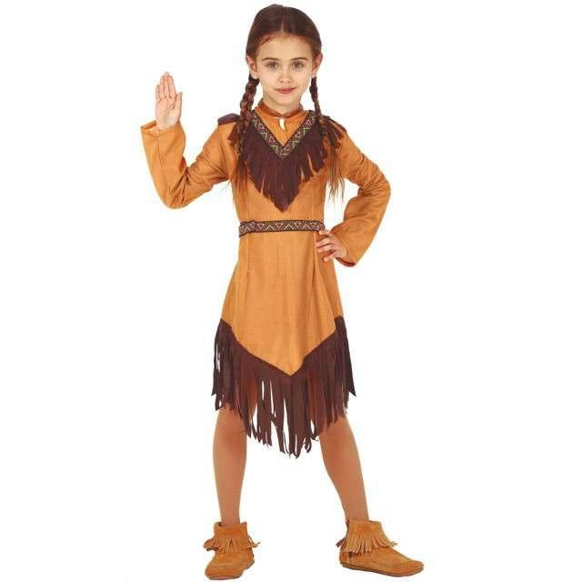 Strój dla dzieci Indianka - frędzle brązowy Guirca 7-9 lat