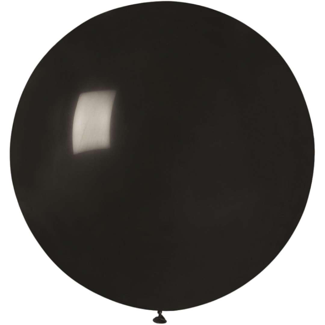 Balon Olbrzym czarny pastel Gemar 80cm