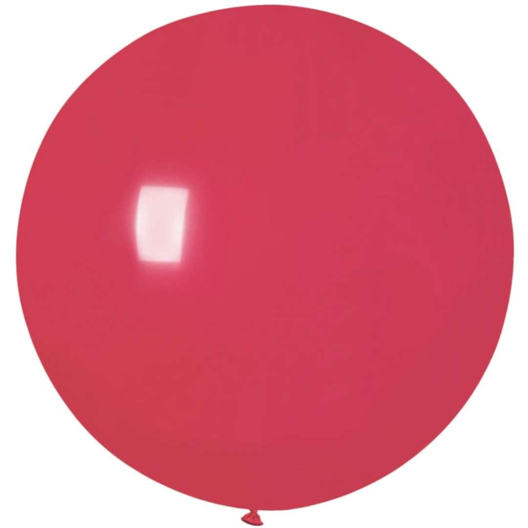 Balon Olbrzym czerwony pastel Gemar 80cm