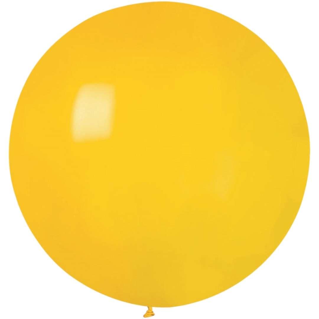 Balon Olbrzym żółty pastel Gemar 80cm