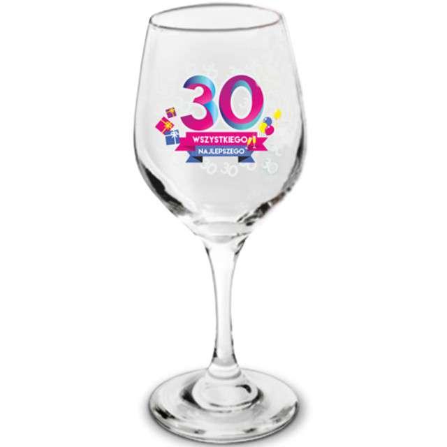Kieliszek do wina  30 - Wszystkiego Najlepszego szklany BGtech 270 ml