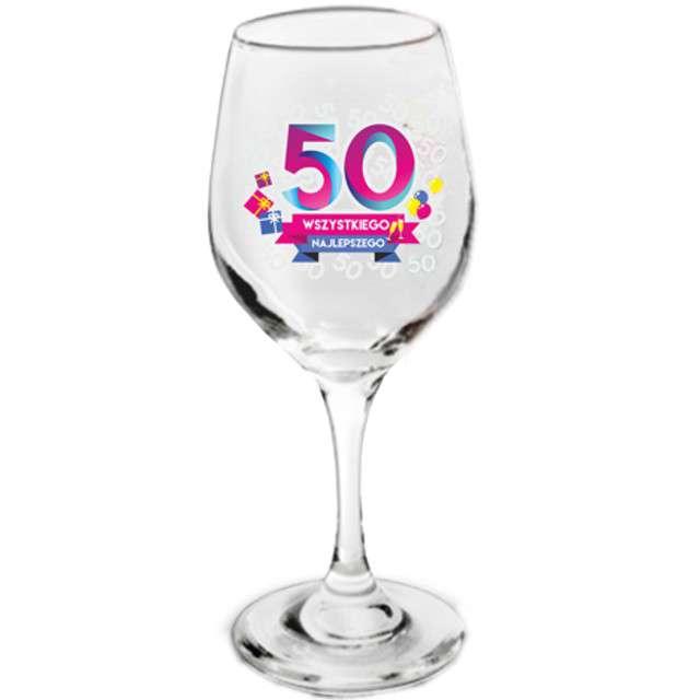 Kieliszek do wina  50 - Wszystkiego Najlepszego szklany BGtech 270 ml
