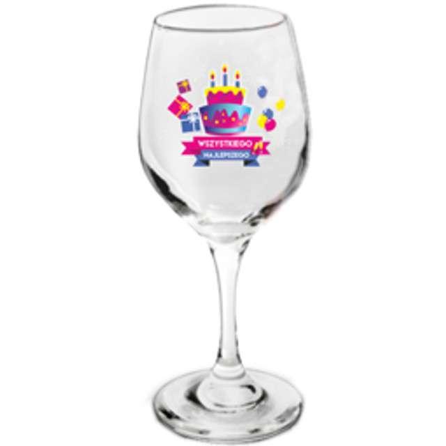 Kieliszek do wina Tort-Wszystkiego Najlepszego szklany BGtech 270 ml