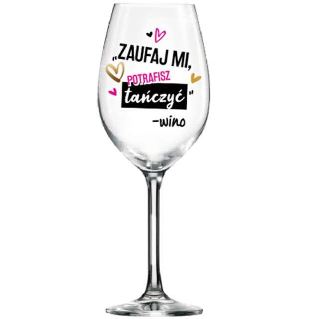Kieliszek do wina Zaufaj Mi szklany BGtech 700 ml