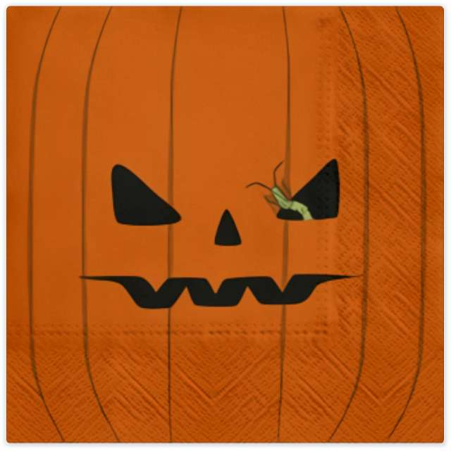 """Serwetki """"Halloweenowa Dynia"""", pomarańczowe, PAW, 33 cm, 20 szt"""