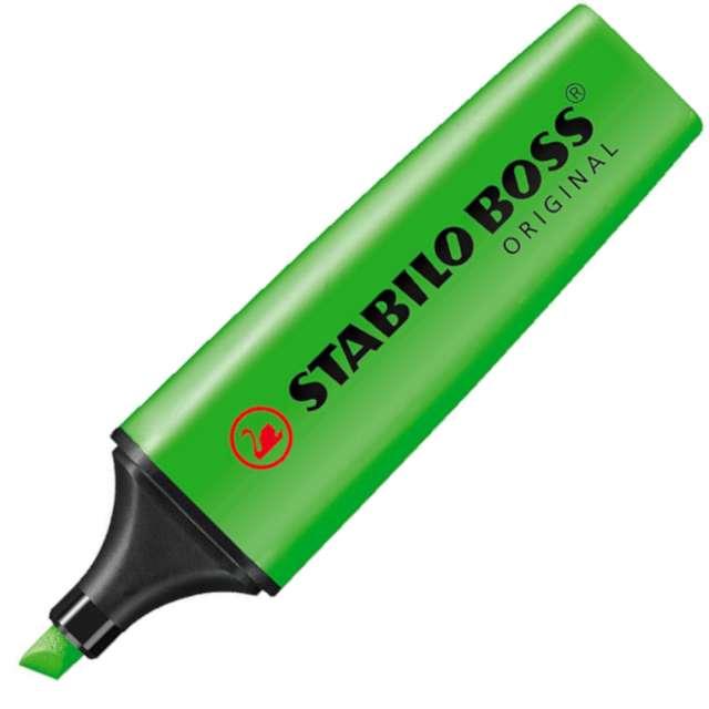 """Zakreślacz """"Ścięty - Boss"""", zielony, Stabilo, 2 - 2,5 mm"""